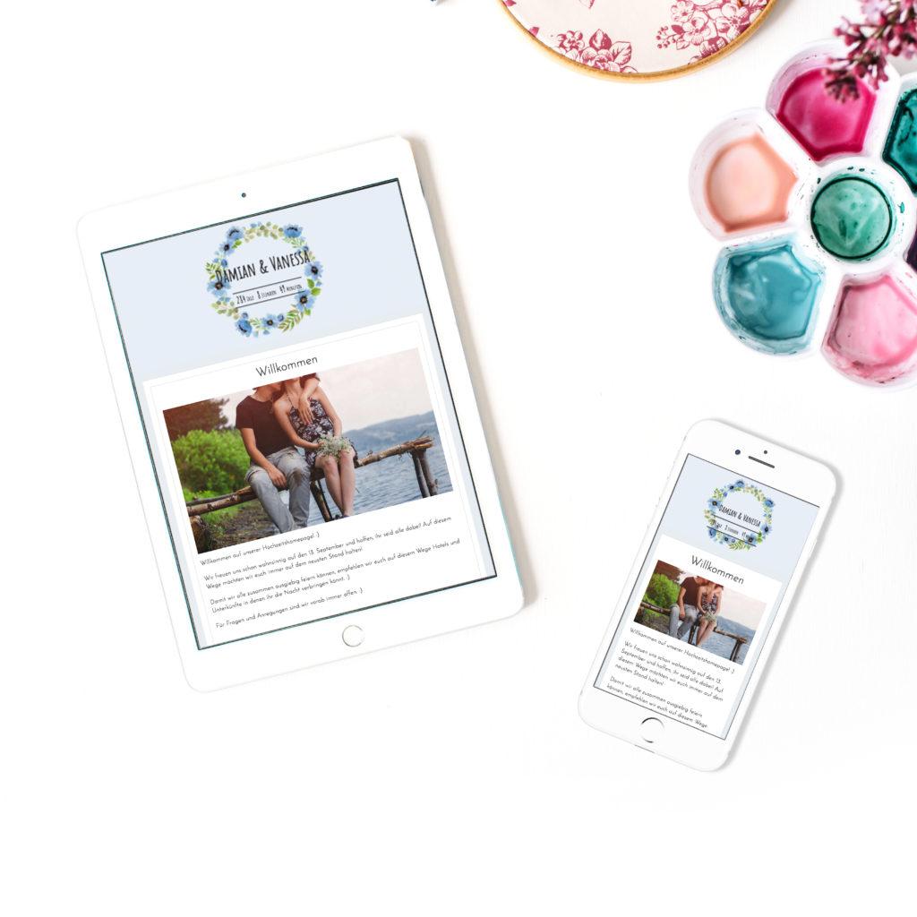 Zankyou Hochzeitswebsite